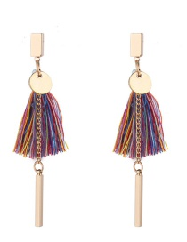 Fashion Multi-color Tassel Decorated Earrings