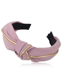 Fashion Light Purple Pure Color Decorated Hair Hoop