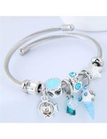 Fashion Blue Multi-element Design Bracelet