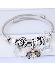 Fashion Silver Color Waterdrop Shape Decorated Multi-element Bracelet