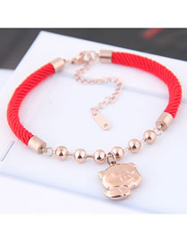 Fashion Red Pig Shape Decorated Bracelet