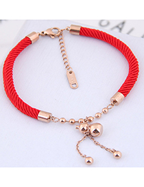 Fashion Red Tassel Decorated Bracelet