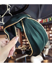 Fashion Green Pure Color Decorated Hair Hoop