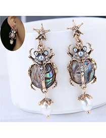 Fashion Gold Metal Ladybug Earrings