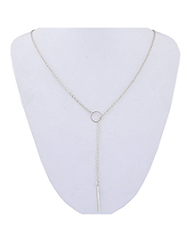 Fashion Silver Metal Ring Necklace