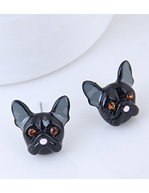 Fashion Black Metal Black Dog Earrings