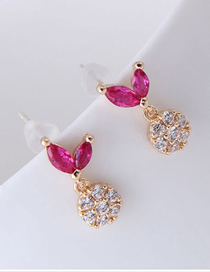 Fashion Gold 925 Silver Needle Copper And Zircon Earrings