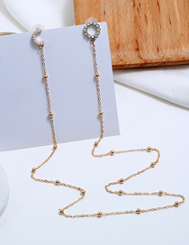 Fashion Gold Metal One-piece Earrings