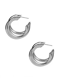 Fashion Silver Metal Earrings