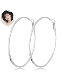 Fashion Silver Metal Ring Earrings