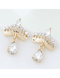 Fashion Gold Crown Earrings
