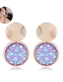 Fashion Colorful Diamond Stud Earrings