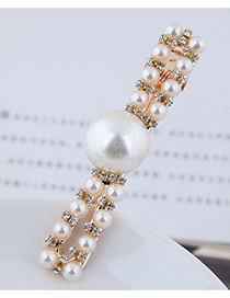 Fashion Gold Metal-studded Pearl Hair Clip