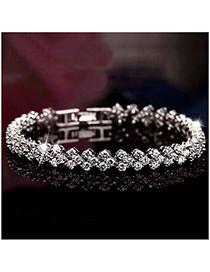 Fashion Silver Zircon Bracelet