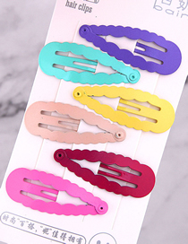 Fashion Color Child Water Drop Hair Clip