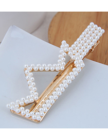 Fashion Gold Imitation Pearl Small Flower Hairpin (double Heart)
