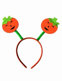 Fashion Orange Pumpkin Shape Decorated Hairband