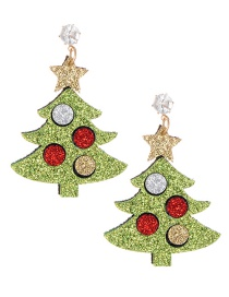 Fashion Green Tree Shape Decorated Earrings
