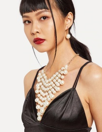 Fashion Champagne Full Pearl Decorated Jewelry Sets