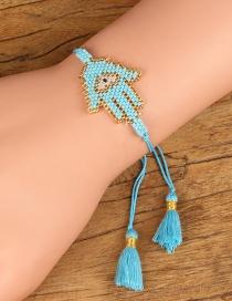 Simple Blue Hand Shape Decorated Bracelet