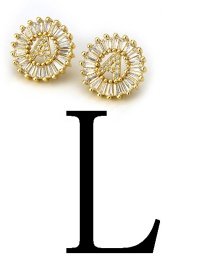 Fashion Gold Color Letter L Shape Decorated Earrings