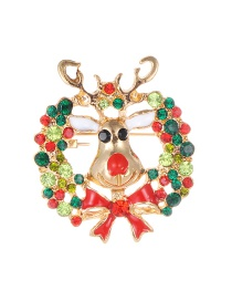 Fashion Multi-color Full Diamond Decorated Deer Shape Brooch