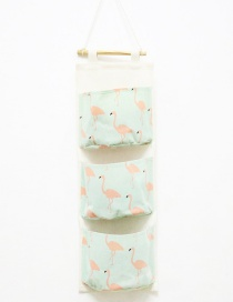 Fashion Green Flamingo Pattern Decorated Storage Bag