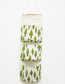 Fashion Green Tree Pattern Decorated Storage Bag