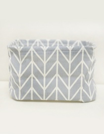 Fashion Gray Geometry Pattern Decorated Storage Bag