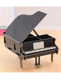 Fashion Black Piano Shape Decorated Storage Box