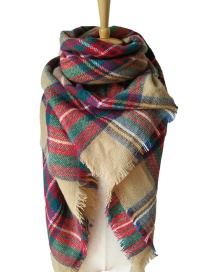 Fashion Red Stripe Pattern Decorated Scarf