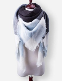 Fashion Gray Color Matching Decorated Scarf
