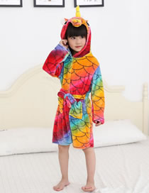 Fashion Multi-color Fish Scale Pattern Decorated Pajamas