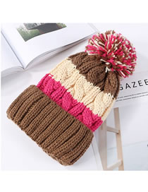 Fashion Multi-color Color-matching Decorated Hat