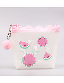 Fashion Pink+white Watermelon Pattern Decorated Coin Purse