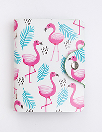 Fashion White Flamingo Pattern Decorated Card Holder