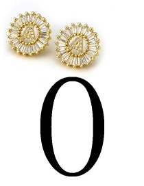 Fashion Gold Color Letter O Shape Decorated Earrings