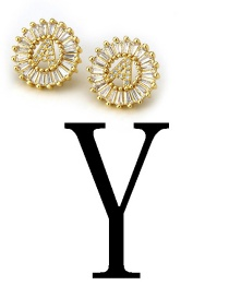 Fashion Gold Color Letter Y Shape Decorated Earrings