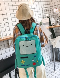 Fashion Blue Color Matching Decorated Backpack
