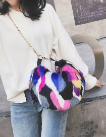 Fashion Multi-color Color-matching Decorated Bag