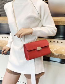 Fashion Red Square Shape Design Bag