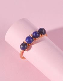 Fashion Blue Round Shape Decorated Ring