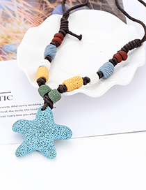 Fashion Blue Star Shape Decorated Necklace