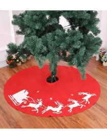 Fashion Red Deer Pattern Decorated Christmas Tree Accessories(100cm)