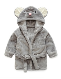 Fashion Gray Mouse Shape Decorated Pajamas