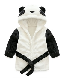 Fashion Black+white Panda Shape Decorated Pajamas