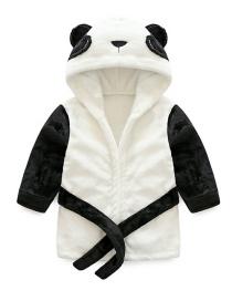 Fashion Black+white Panda Shape Decorated Pajamas