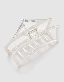 Fashion Silver Color Pure Color Decorated Hair Clip