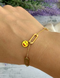Fashion Gold Color Smile Shape Decorated Bracelet