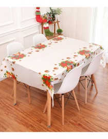 Fashion White Flower Pattern Decorated Tablecloth